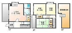 [タウンハウス] 兵庫県神戸市垂水区宮本町 の賃貸【兵庫県 / 神戸市垂水区】の間取り