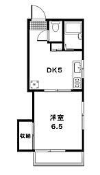 東京都世田谷区等々力8丁目の賃貸マンションの間取り