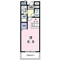 広島県東広島市西条大坪町の賃貸マンションの間取り