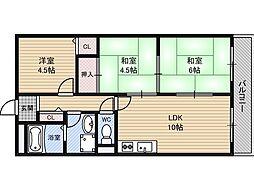 ベルフィード新大阪[2階]の間取り