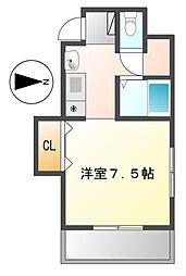 愛知県名古屋市熱田区新尾頭1丁目の賃貸マンションの間取り