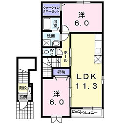 アルド−レ[2階]の間取り