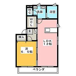 グランサージュ B棟[2階]の間取り