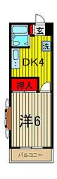 ヨ−ゴ−マンション[203号室]の間取り