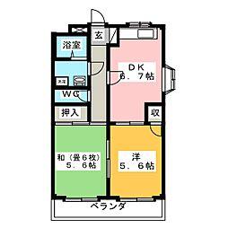 ニュー蔵子[1階]の間取り