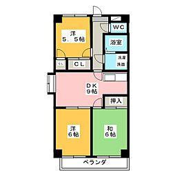 ニッコーハイツ[4階]の間取り