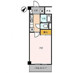 第2コーポ朝倉[206号室号室]の間取り
