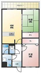 エタージュ高井田[306号室号室]の間取り