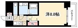 プレサンス錦通THE葵 7階1Kの間取り