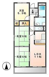 愛知県名古屋市港区当知2丁目の賃貸マンションの間取り