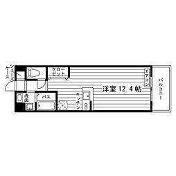福岡県北九州市若松区ひびきの南1丁目の賃貸マンションの間取り