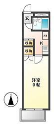 1897WATSON(ワトソン)[4階]の間取り