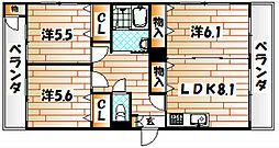 医生ヶ丘エストリル[2階]の間取り