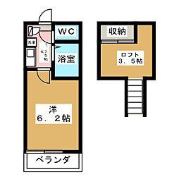 ベルフォーレII[1階]の間取り
