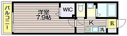 東京都三鷹市北野3の賃貸アパートの間取り