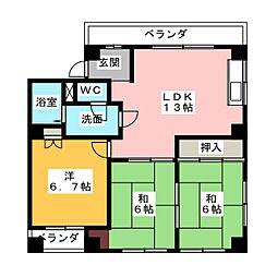 Y.S.H.[4階]の間取り