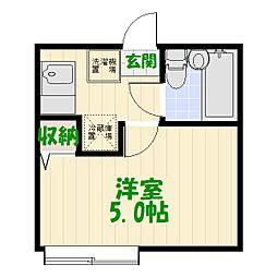 東京都足立区佐野2丁目の賃貸アパートの間取り