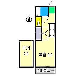 ピーベリーハウス[2階]の間取り
