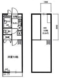 メインシティガーデン アゼリア2[2階]の間取り
