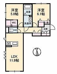 仮)シャーメゾン津島福居[1階]の間取り