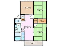 サンライフ九華[2階]の間取り