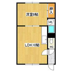 吉田マンション[2F08号室]の間取り