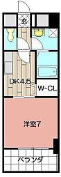 サンルーヴル 2階1SDKの間取り