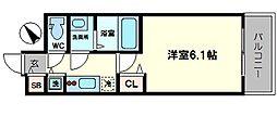 プレサンスOSAKA DOMECITY ワンダー 8階1Kの間取り