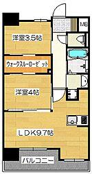 ネストピア博多駅ステージ[9階]の間取り
