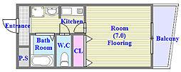 シーショア垂水[1階]の間取り