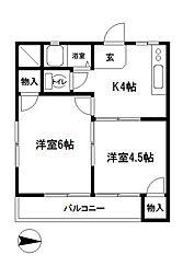 佐藤コーポ[4階]の間取り