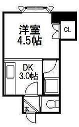 コーポH・S東札幌[203号室]の間取り