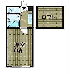 コンフォート渕野辺[1階]の間取り