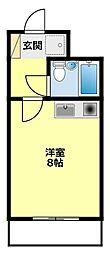 愛知県豊田市美山町4丁目の賃貸マンションの間取り