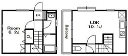 [テラスハウス] 千葉県千葉市花見川区幕張町5丁目 の賃貸【/】の間取り
