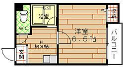 シティーライフ千代崎[6階]の間取り