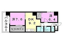 勝山町バートン[402 号室号室]の間取り