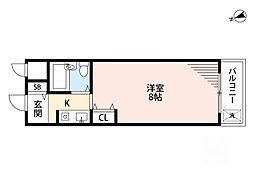 パイン吹田元町[2階]の間取り