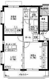 ユーミー小松B[402号室]の間取り