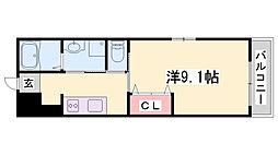 JR東海道・山陽本線 東加古川駅 徒歩16分の賃貸アパート 2階1Kの間取り