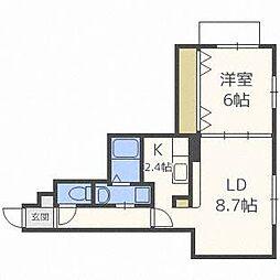 リバーフォレスト[4階]の間取り