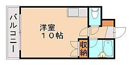 鴻陽ハイツ[3階]の間取り