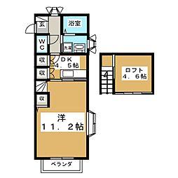 グレオンII[2階]の間取り