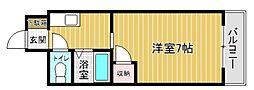 プレアール奈多[3階]の間取り