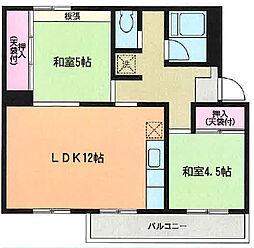 旭区左近山 左近山団地3街区1号棟302号室[3階]の間取り