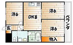 シャルム風[5階]の間取り