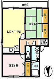 プラザ・ルミエール弐番館 E棟[1階]の間取り