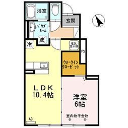 北海道函館市駒場町の賃貸アパートの間取り