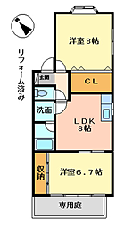 KEN'S HOUSE[1階]の間取り