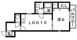 大阪府大阪市住吉区大領2丁目の賃貸マンションの間取り